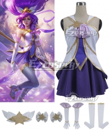 League of Legends LOL Star Guardian Janna Purple Cosplay Costume