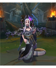 League of Legends LOL Spirit Blossom Cassiopeia Black Skin Cosplay Costume
