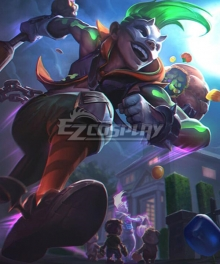 League of Legends LOL Trick or treat Ekko Cosplay Costume