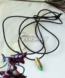 League Of Legends LOL Loose Cannon Jinx Bullet Necklace Cosplay Accessory Prop
