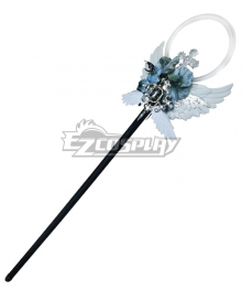 Lolita Series Halloween Magic Wand Black Angel Staff Cosplay Weapon Prop