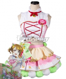 Love Live Hanayo Koizumi Cat Double Pony Tail Lovely Dress Cosplay Costume