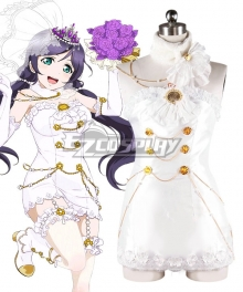 Love Live! Lovelive! Wedding Bride Dress Party Dress Nozomi Tojo Cosplay Costume