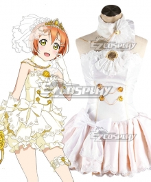 Love Live! Lovelive! Wedding Bride Dress Party Dress Rin Hoshizora Cosplay Costume