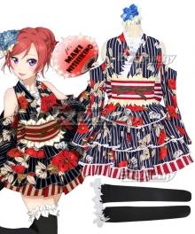 Love Live! Lovelive! Yukata Maki Nishikino Cosplay Costume