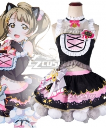 Love Live Minami Kotori Cat Double Pony Tail Lovely Dress Cosplay Costume