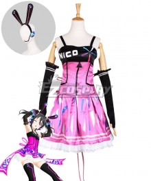 Love Live! Lovelive! Nico Yazawa Cyber Idolized Gaming Game Awaken Cosplay Costume