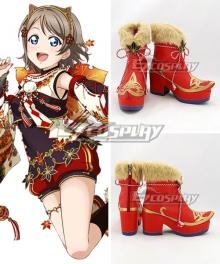 Love Live!Sunshine Maple Leafs Kanan Matsuura Hanamaru Kunikida Sakurauchi Riko Takami Chika Ruby Kurosawa Mari Ohara Red Cosplay Shoes