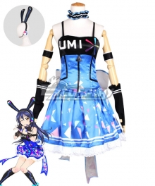 Love Live! Lovelive! Umi Sonoda Cyber Idolized Gaming Game Awaken Cosplay Costume