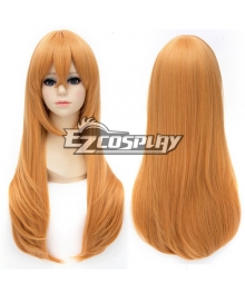 Touken Ranbu Midare Toushirou Long Straight Orange Cosplay Wig