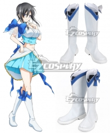 Magical Girl Ore Magical Girl Sakuyo Mikage White Shoes Cosplay Boots