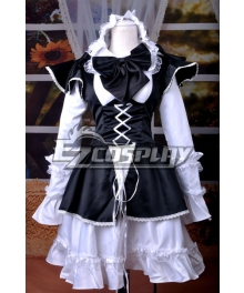 Maid Black Lolita Dress Cosplay Costume