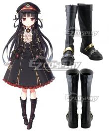 Maitetsu:Pure Station Hachiroku 86 Black Cosplay Boots