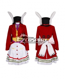 Alice: Madness Returns Alice Lucky Rabbit Red Cosplay Costume