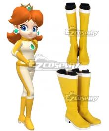 Mario Kart 8 Princess Daisy Bikesuit Golden Shoes Copslay Boots