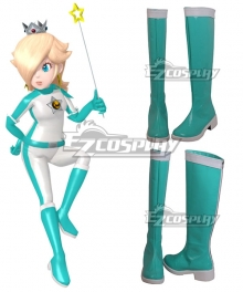Mario Kart 8 Rosalina Bikesuit Green Shoes Cosplay Boots
