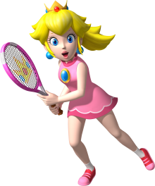 Mario Tennis Aces Princess Peach Cosplay Costume
