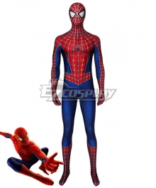 Marvel 2002 Movie Spider-Man  Tobey Maguire Zentai Jumpsuit Cosplay Costume