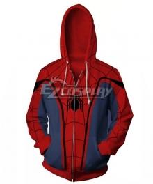 Marvel 2017 Spiderman Spider-Man:Homecoming Spider Man Peter Benjamin Parker Coat Hoodie Cosplay Costume