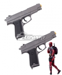 Marvel 2018 Deadpool 2 Wade Wilson Double Gun Cosplay Weapon Prop