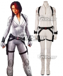 Marvel 2020 Movie Black Widow Natasha Romanoff White Suit Cosplay Costume