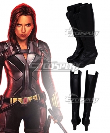 Marvel 2020 Movie Black Widow Natasha Romanoff  Black Shoes Cosplay Boots