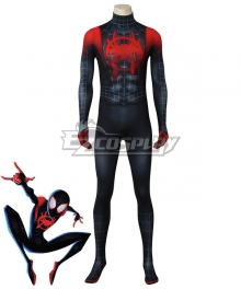 Marvel Spiderman Spider-Man: Into The Spider-Verse Miles Morales Cosplay Costume