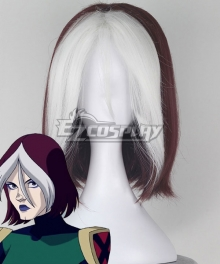 Marvel Animated Universe X-Men: Evolution Rogue White Red Cosplay Wig