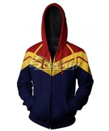 Marvel Avengers 4: Endgame Captain Marvel Carol Danvers Coat Hoodie Cosplay Costume