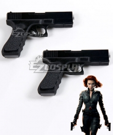 Marvel Avengers Black Widow Natasha Romanoff Two Guns Cosplay Weapon Prop