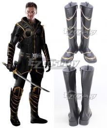Marvel Avengers: Endgame Hawkeye Clinton Francis Barton Black Shoes Cosplay Boots