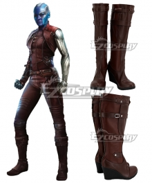 Marvel Avengers: Endgame Nebula Brown Shoes Cosplay Boots