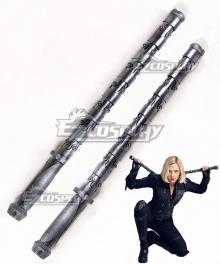 Marvel Avengers 3: Infinity War Black Widow Natasha Romanoff Two Sticks Cosplay Weapon Prop