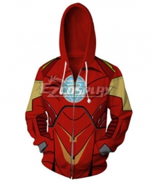 Marvel Avengers iron man ironman Tony Stark Hoodie Cosplay Costume