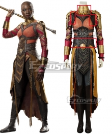 Marvel Black Panther 2018 Movie Okoye Cosplay Costume - Accessory