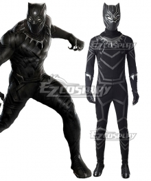 Marvel Black Panther 2018 Movie T'Challa Black Panther Cosplay Costume