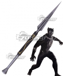Marvel Black Panther 2018 Movie T'Challa Black Panther Spear Cosplay Weapon Prop