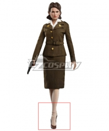 Marvel Captain America Peggy Carter Brown Cosplay Shoes