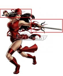 Marvel Comics Elektra Natchios Two Sai Cosplay Weapon Prop