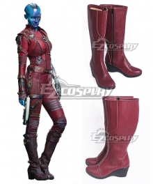 Marvel Comics Guardians Of The Galaxy Nebula Red Shoes Cosplay Boots