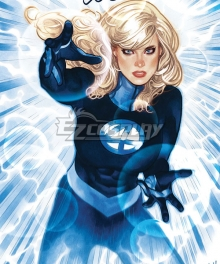 Marvel Comics Invisible Woman Susan Storm Richards Cosplay Costume