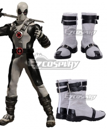 Marvel Comics X-Force Deadpool 2 Wade Wilson Silver Cosplay Shoes