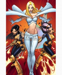 Marvel Comics X-Men White Queen Emma Frost Cosplay Costume