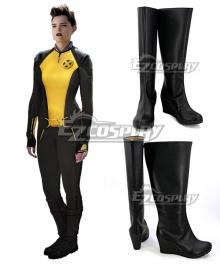 Marvel Deadpool 2 Negasonic Teenage Warhead Ellie Phimister Black Shoes Cosplay Boots