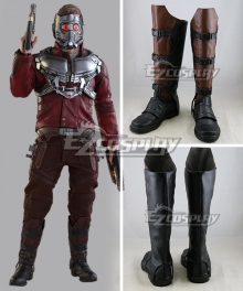 Marvel Guardians of the Galaxy Peter Jason QuillStar-Lord Brown Shoes Cosplay Boots