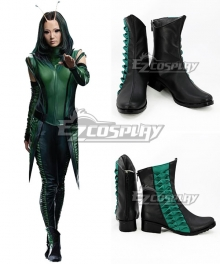 Marvel Guardians Of The Galaxy Vol. 2 Mantis Black Green Cosplay Shoes