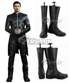 Marvel Inhumans Black Bolt Blackagar Boltagon Black Shoes Cosplay Boots