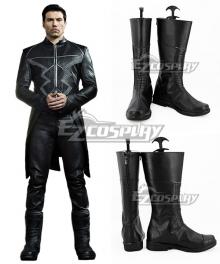 Marvel Inhumans Black Bolt Blackagar Boltagon Black Shoes Cosplay Boots