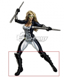 Marvel Mockingbird Barbara Bobbi Morse Agent 19 Black Shoes Cosplay Boots