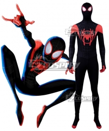 Marvel Spiderman Spider-Man: Into the Spider-Verse Spider-Man SpiderMan Miles Morales Cosplay Costume